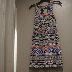 Multi-Color Patterned Dress